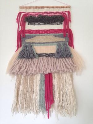 Wanddecoratie textiel handmade