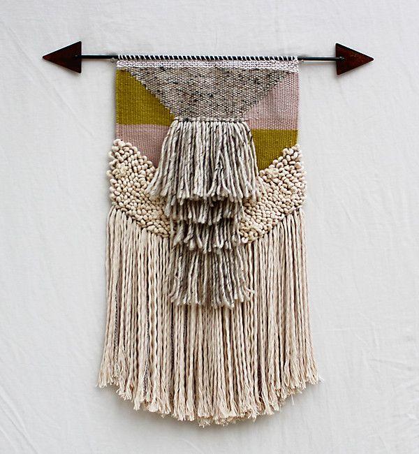 wanddecoratie textiel pijl